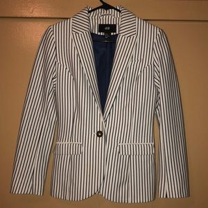 Striped blue & white blazer